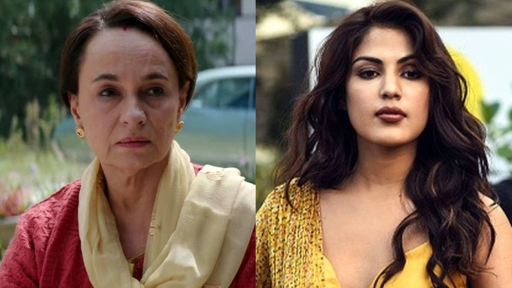 Soni Razdan defends Rhea Chakraborty; calls her an innocent victim | Bollywood Bubble