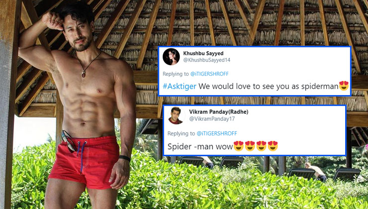 Tiger Shroff wishes to play Spiderman on-screen; check out fans' reactions | Bollywood Bubble