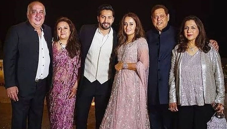 Varun Dhawan-Natasha Dalal's pre-wedding pic with their parents goes viral | Bollywood Bubble