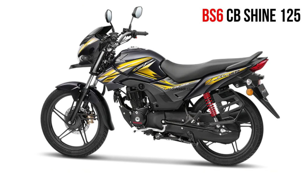 BS6 Honda CB Shine 125 Launched