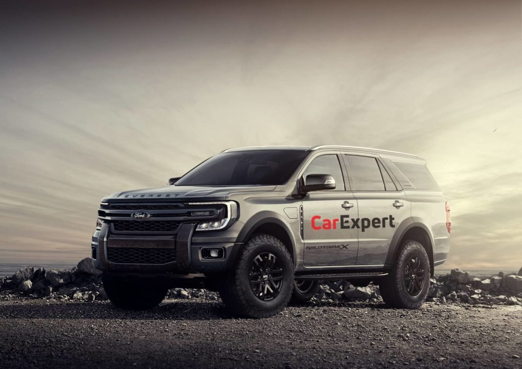 2022 Ford Endeavour rendering front angle