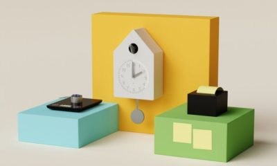 Amazon's smart kitchen scale, smart cuckoo clock, and wireless sticky note printer.
