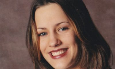 <p>Caroline Flack in a school portrait</p>