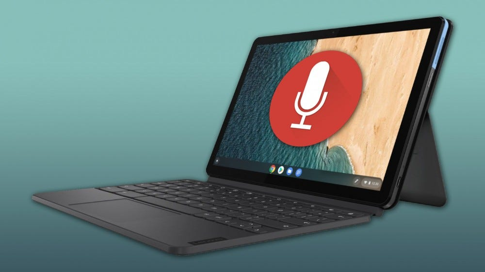 Chromebook Duet with microphone icon