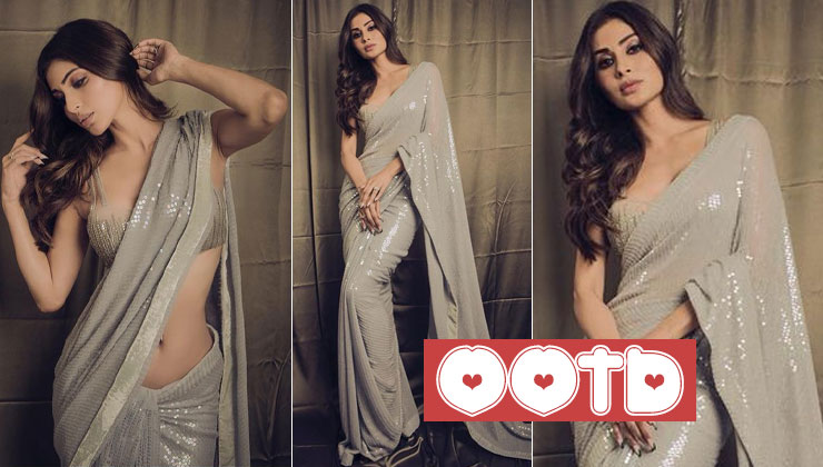 Mouni Roy looks insanely hot in this Manish Malhotra's sequin saree; view pics | Bollywood Bubble