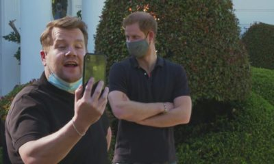 Prince Harry shows off rap skills as he tours LA with James Corden