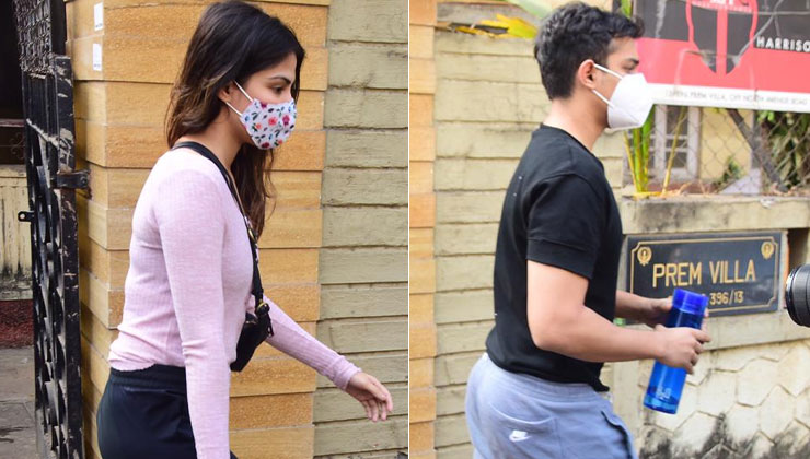 Rhea Chakraborty and brother Showik Chakraborty snapped at a gym   Bollywood Bubble
