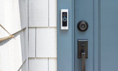 A Ring Video Doorbell Pro mounted to a home.