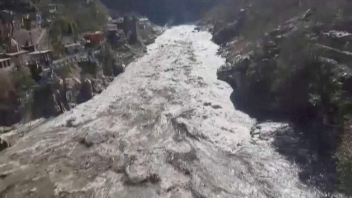 Scores of people  feared dead as glacier crashes into dam in northern India