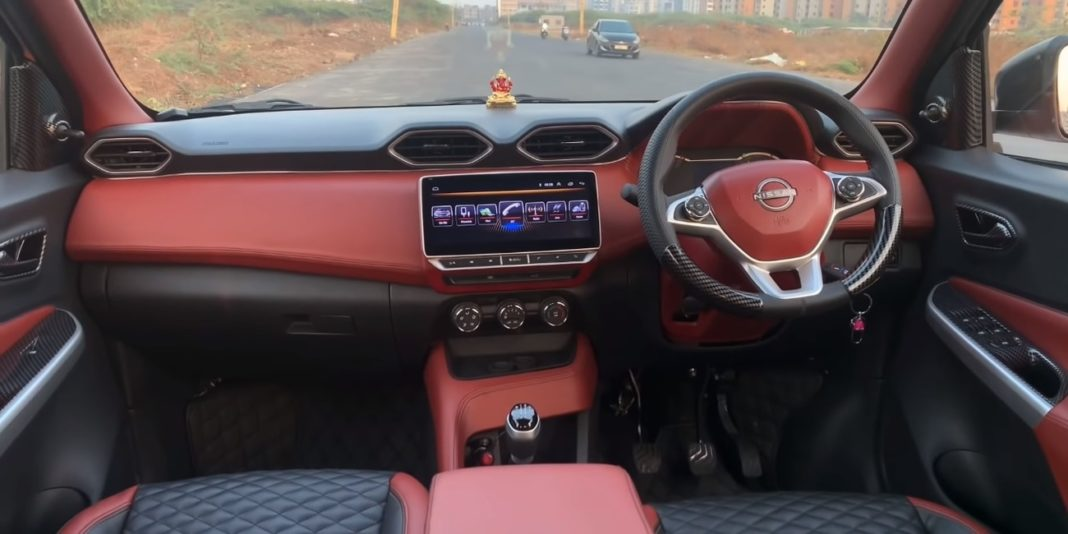 Nissan Magnite base XE trim modified interior