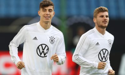 <p>Havertz and Werner have struggled so far in west London</p>