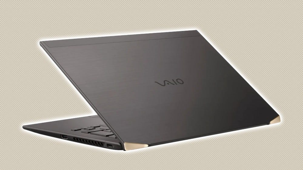 A photo of the carbon-fiber VAIO Z laptop.