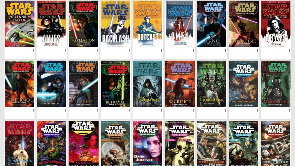 "Collection of ""Star Wars"" books in Google Books"
