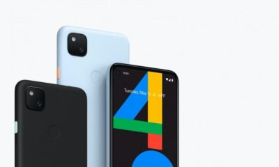 Pixel 4a blue and black