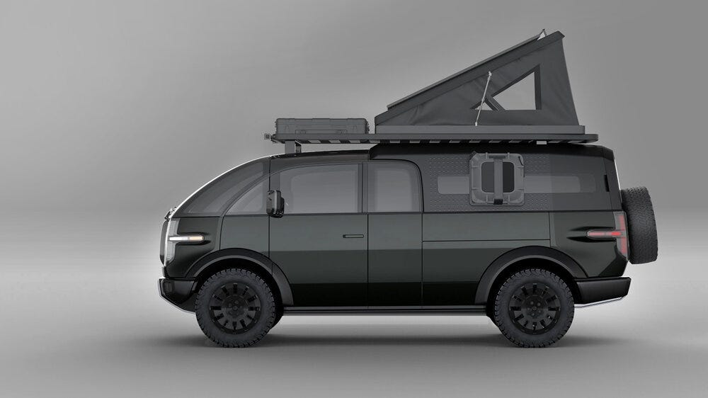 A Pickup with an included camper section.