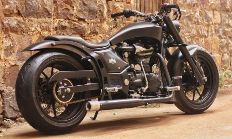 Royal Enfield 350 modified lowrider 3