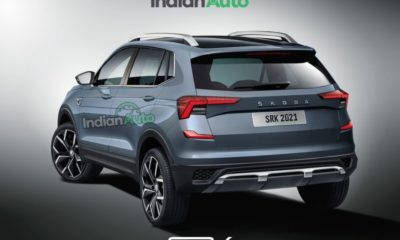 2021 Skoda Kushaq rendering rear three quarter