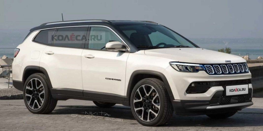 7-Seater Jeep Compass Rendered