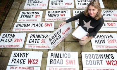 Beatles Abbey Road sign sells for £37,000 at auction