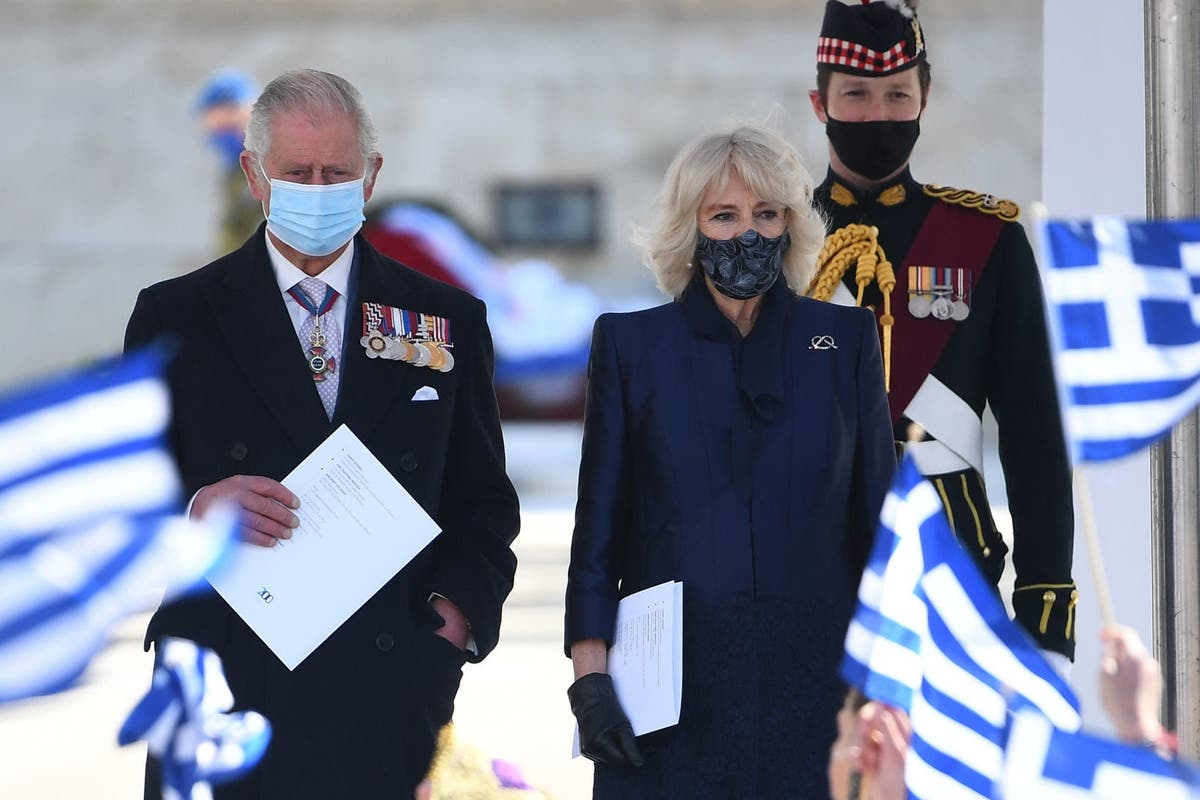 Charles and Camilla mark Independence Day in Athens