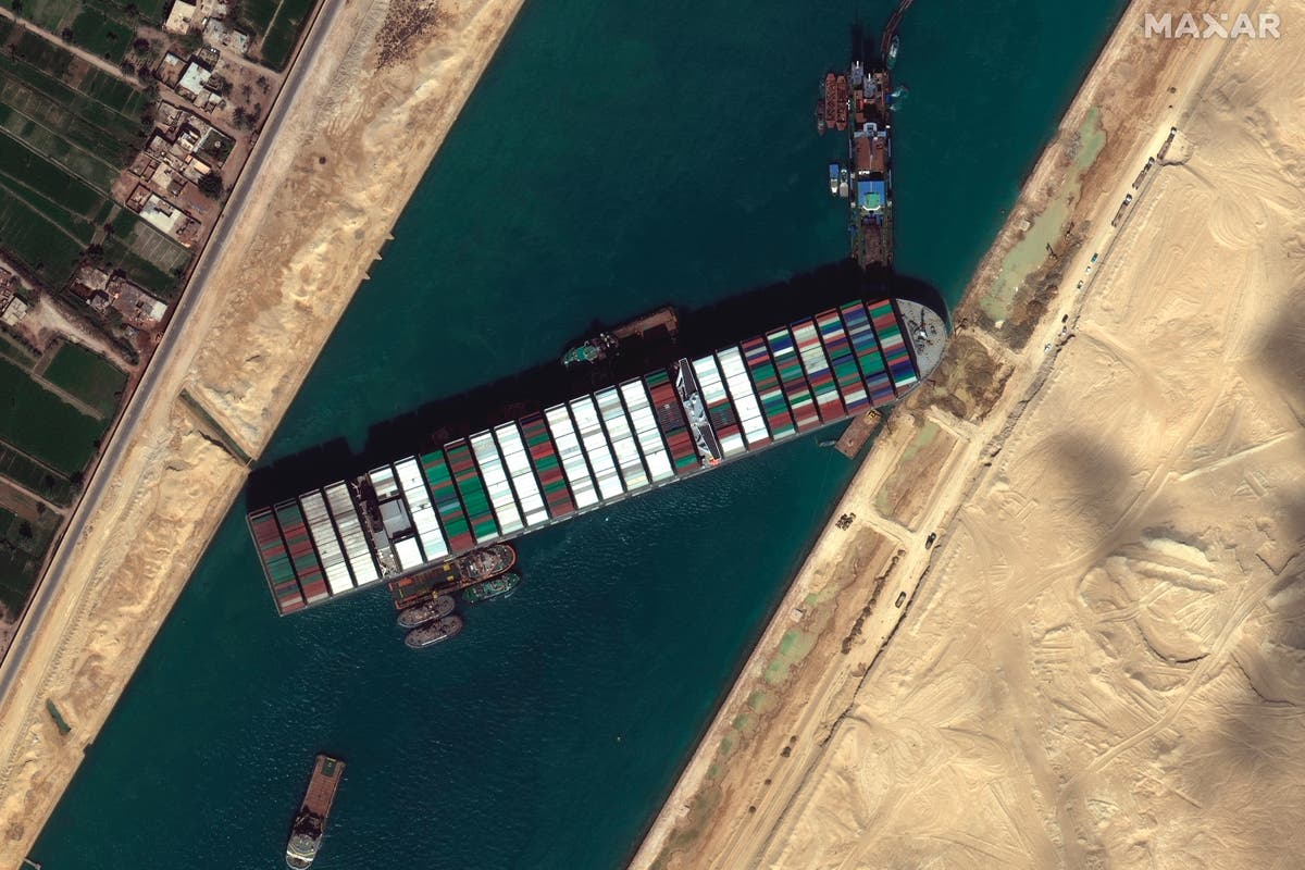 Fresh efforts underway to refloat enormous ship blocking Suez canal