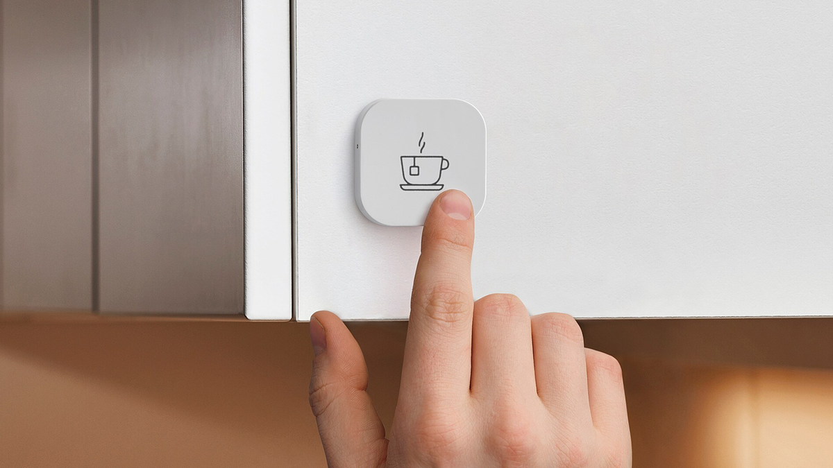 The IKEA TRADFRI smart home shortcut button.