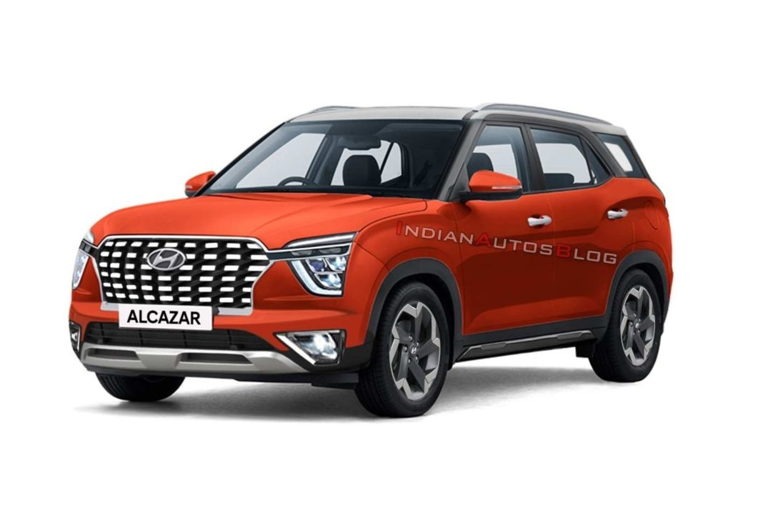 Hyundai Alcazar rendering Lava Orange