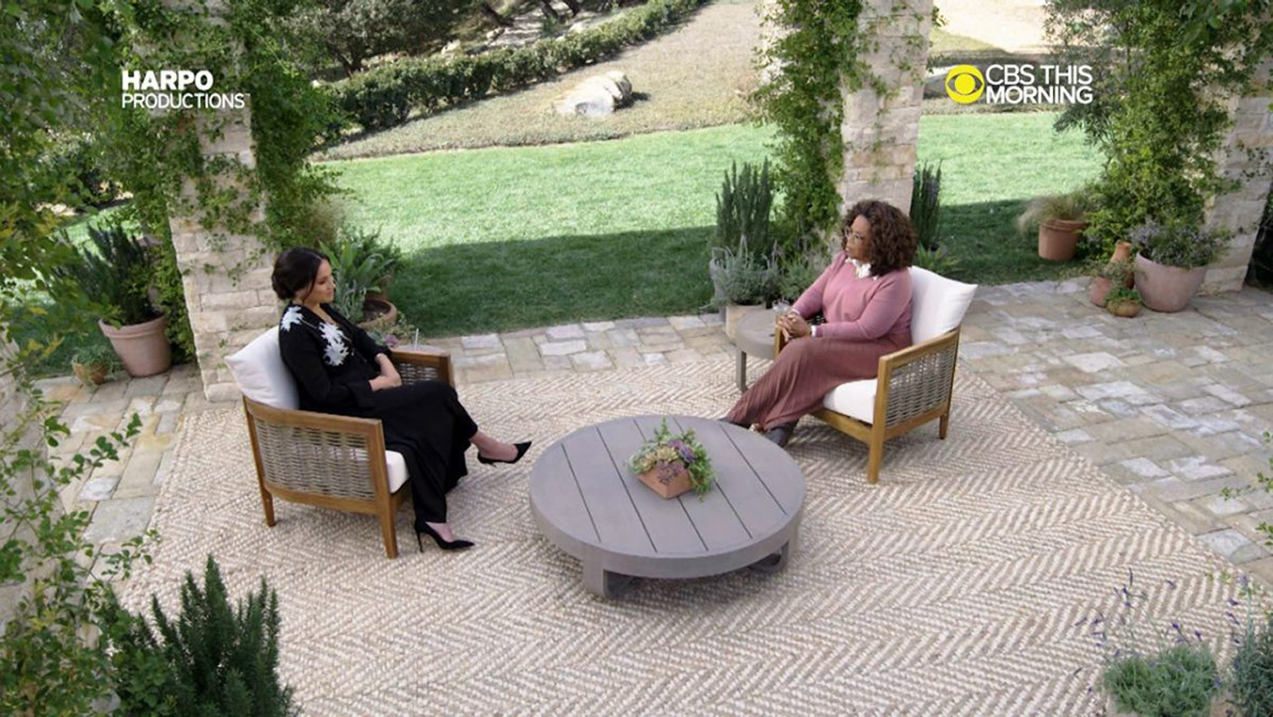 <p>Meghan's hour-long chat with Oprah covered numerous topics, including racism</p>