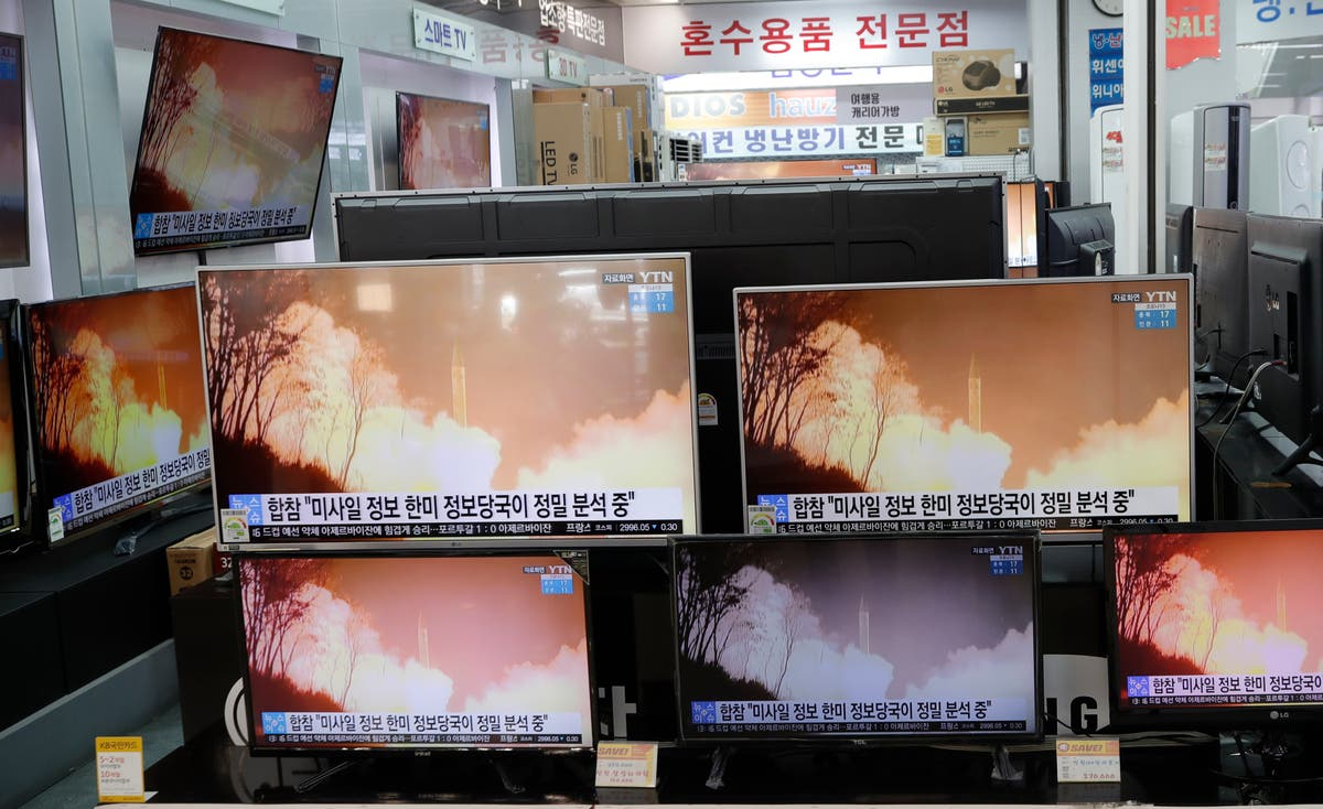 North Korea test-fires missiles in 'threat to peace in the region'