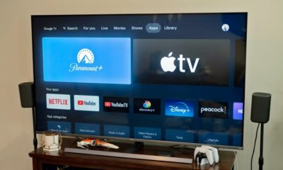 The Paramount+ app on a Chromecast-powered TV.
