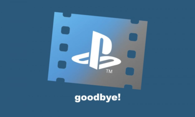 "The PlayStation Video logo and the word ""goodbye."""