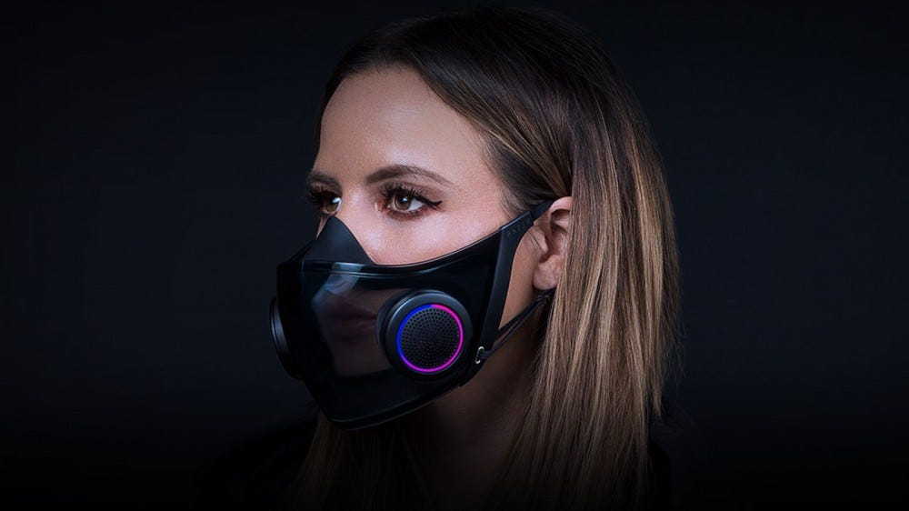 The Razer Project Hazel face mask.