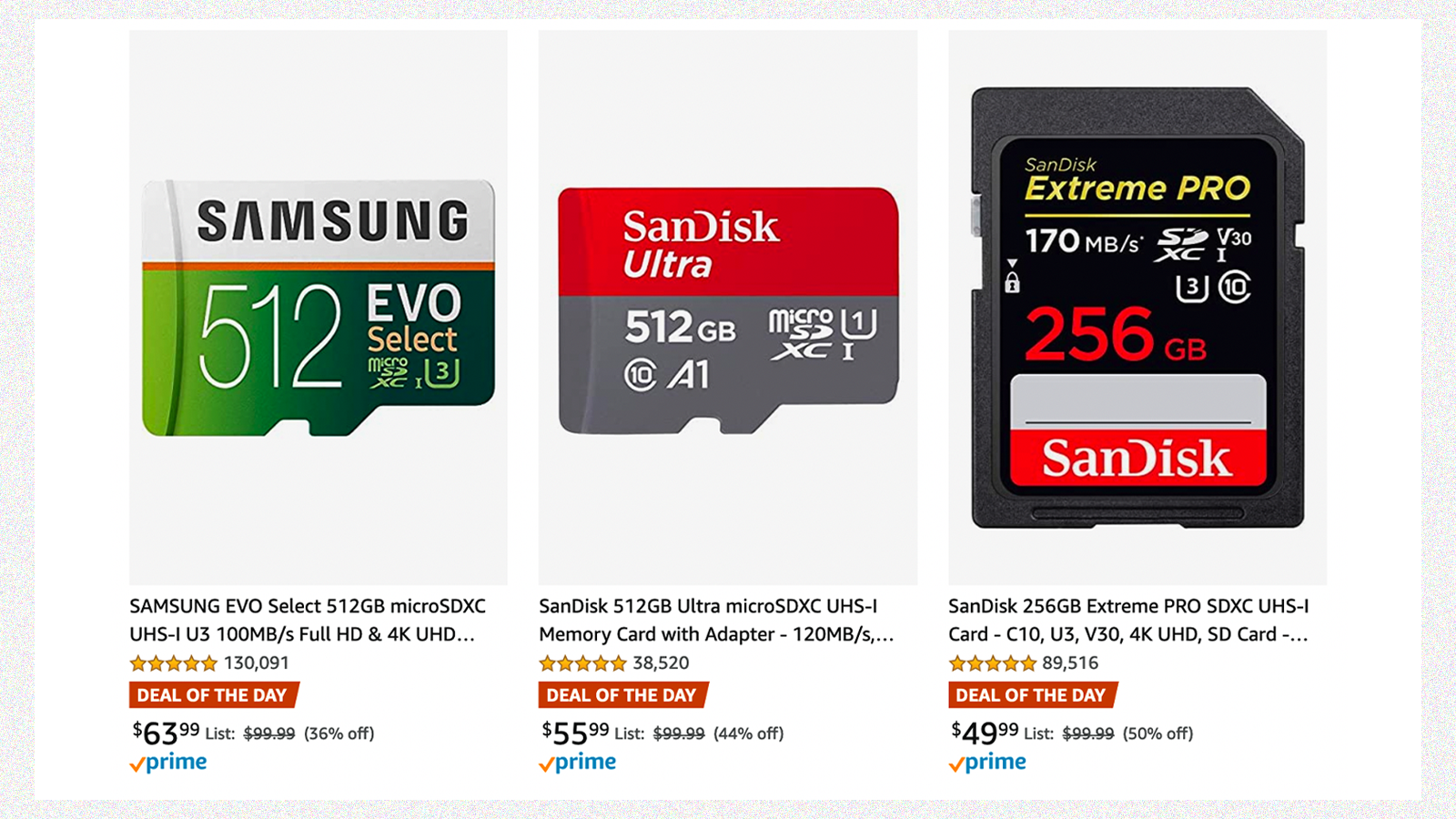 Stock Up on SD Cards and USB Drives During Amazon's Sale