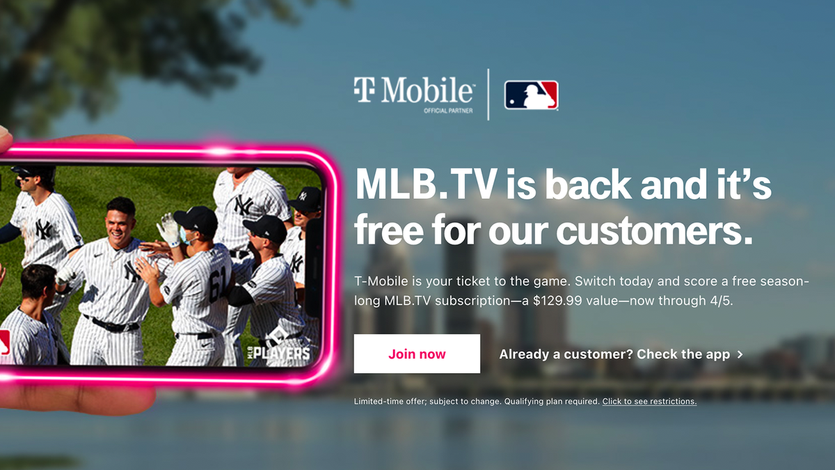 T-Mobile Customers Can Now Stream MLB.TV for Free (A $130 Annual Value)