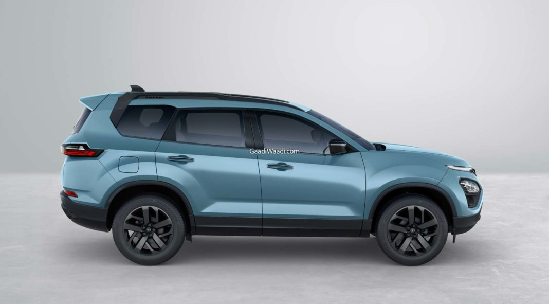 2021 Tata Safari Adventure side profile