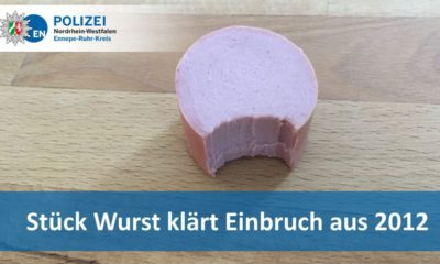 Wurst case: German cops solve burglary using DNA on half-eaten sausage