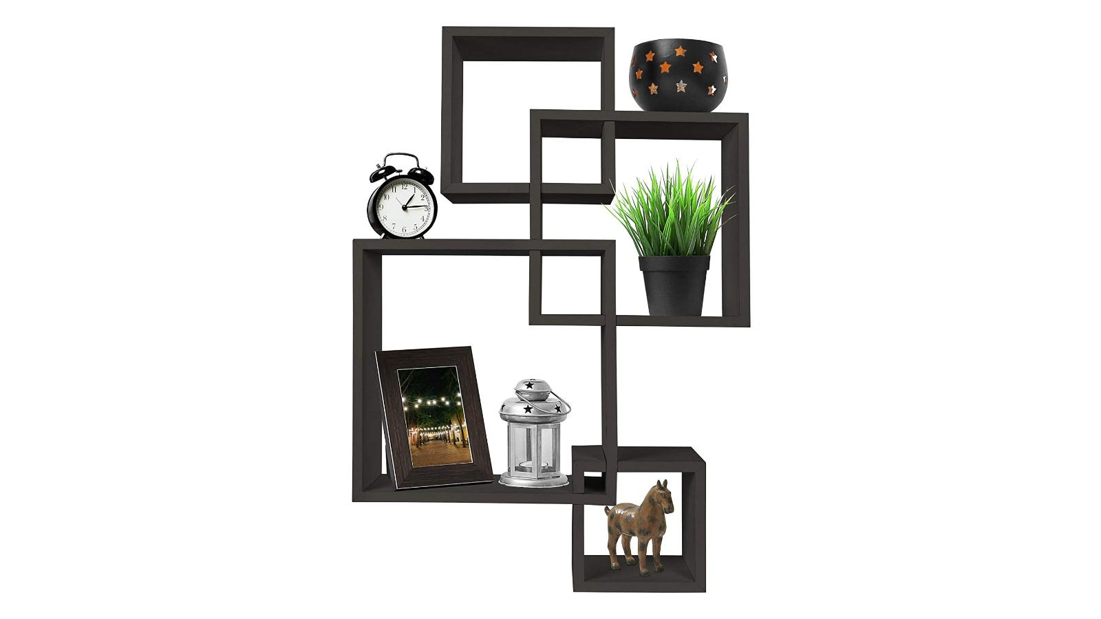 Greenco 4 Cubes Floating Shelf