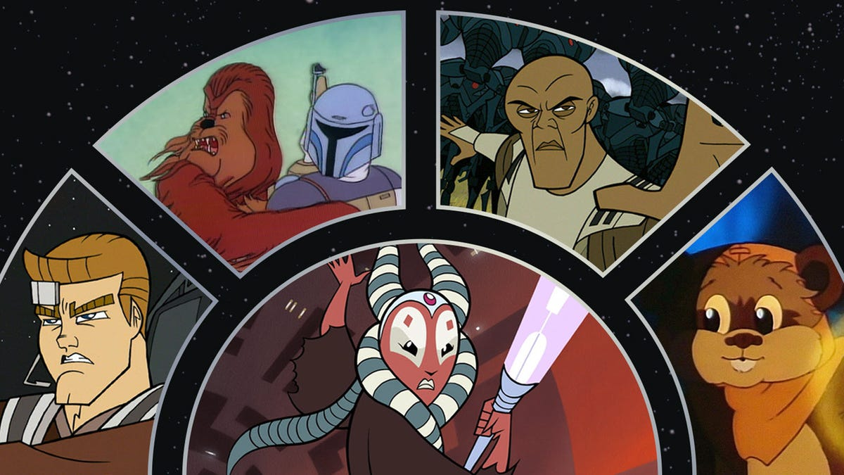 'Star Wars' characters from various cartoons.