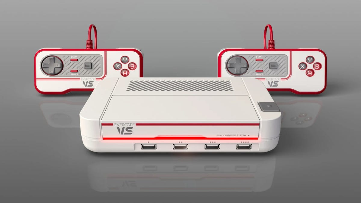 Evercade VS retro game console, home retro console