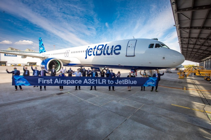 JetBlue welcomes first A321LR ahead of transatlantic launch