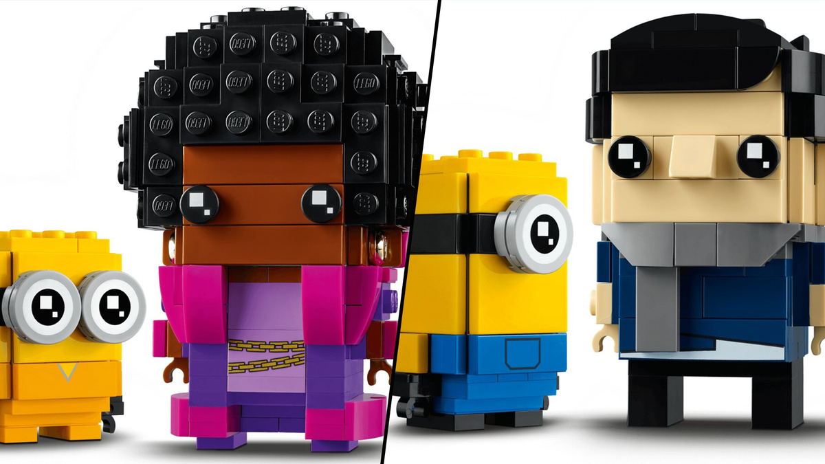 A few characters from the new LEGO BrickHeadz Minions sets