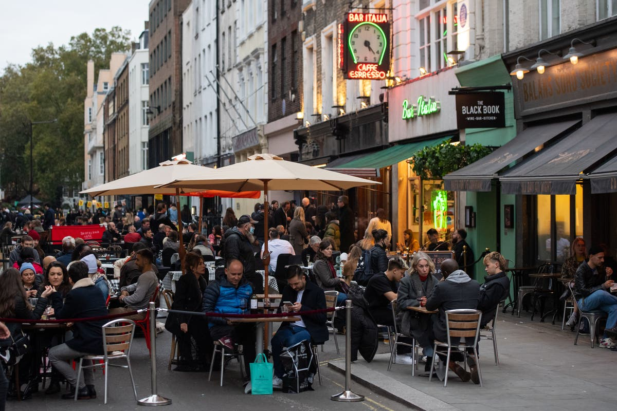 London set for £500m spending surge as restaurants & pubs reopen on April 12
