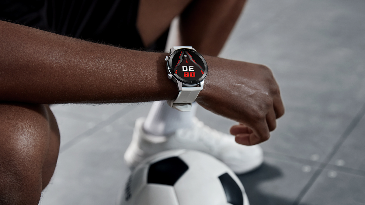 The RedMagic watch on an athelete.