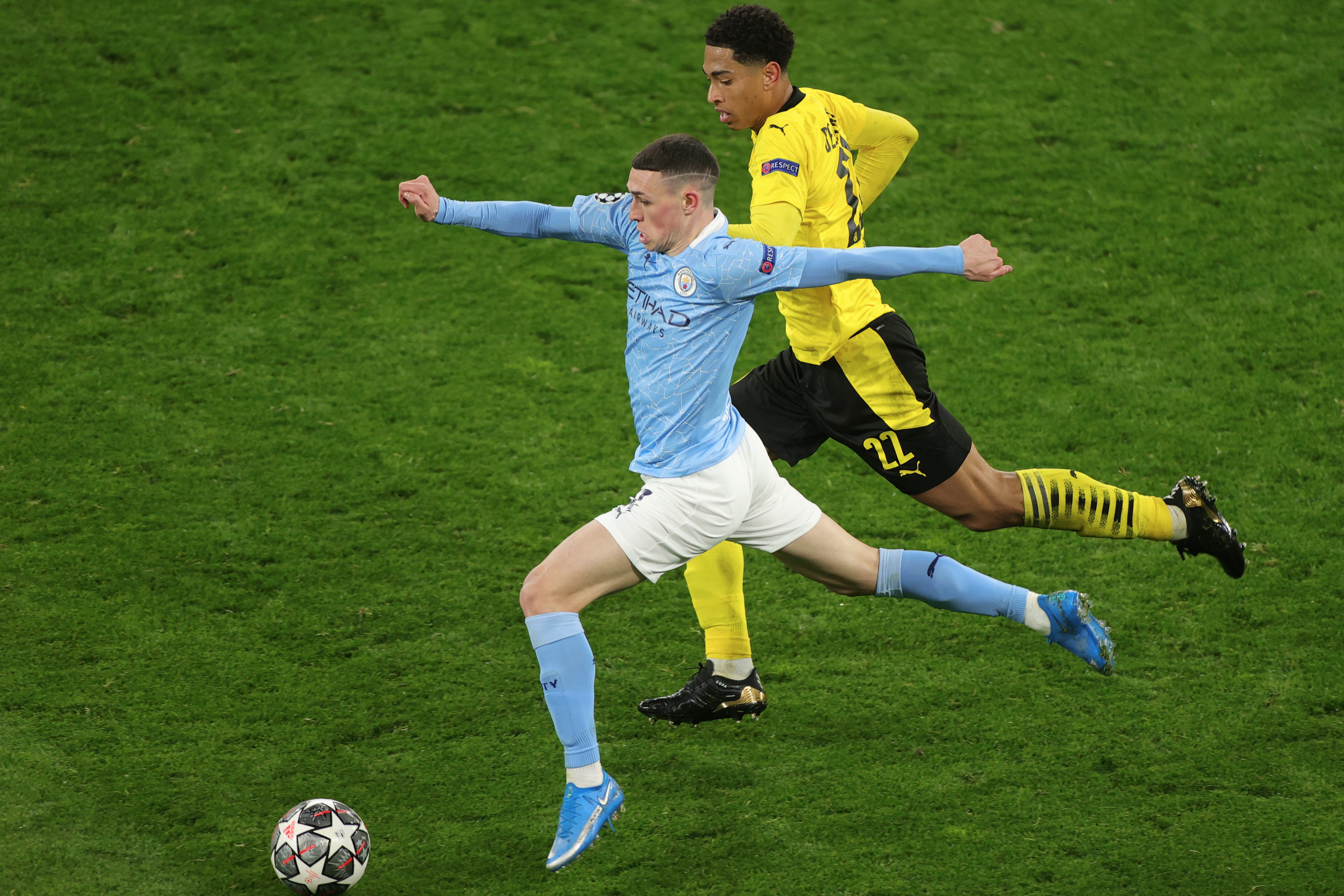 <p>Jude Bellingham and Phil Foden both impressed in the Champions League quarter-finals</p>