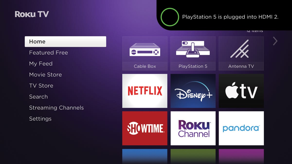 Roku Automatic game console configuration