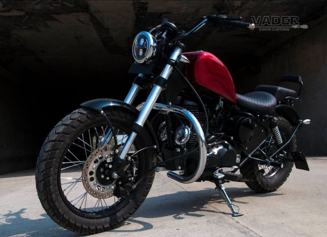 modified Royal Enfield 350 cruiser 3