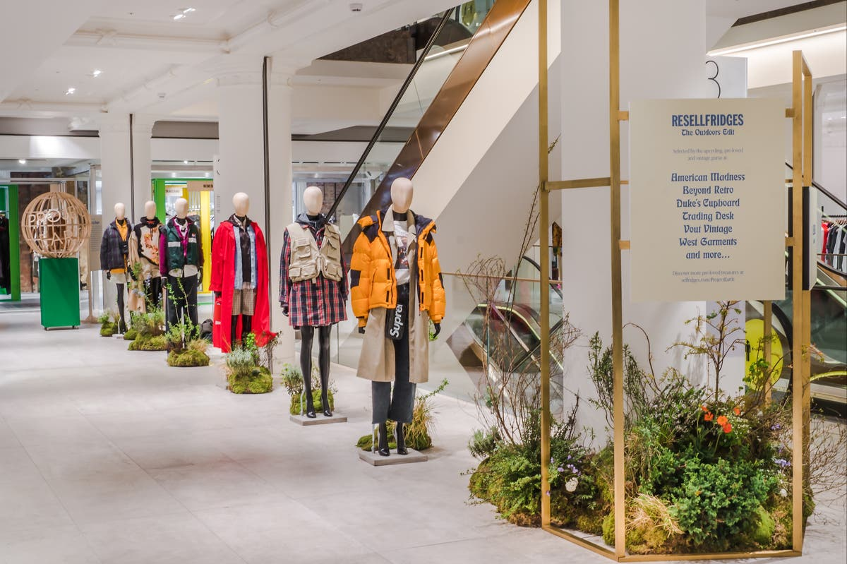 Selfridges opens pre-loved outdoor clothing pop-up