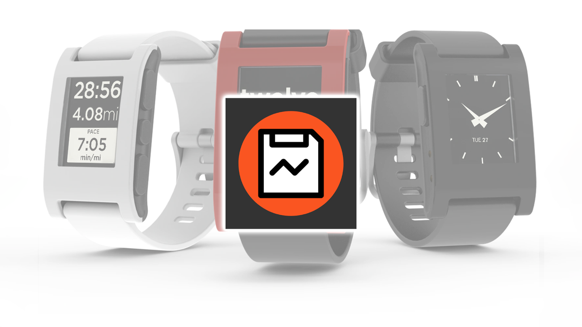 The Rebble Sideload Helper icon over Pebble smartwatches