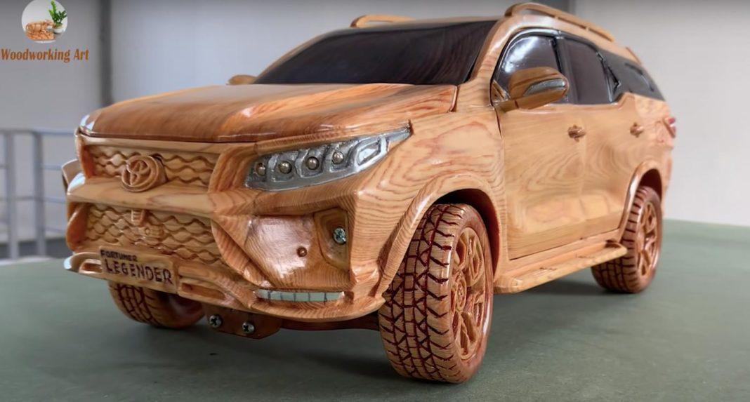 Wood Carved Toyota Fortuner Legender