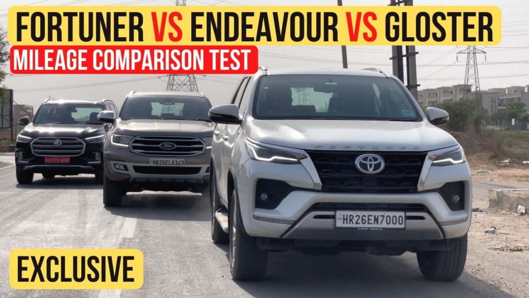 Toyota Fortuner vs MG Gloster vs Ford Endeavour 1